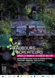 Affiche faubourg des Créateur 2015 Strasbourg