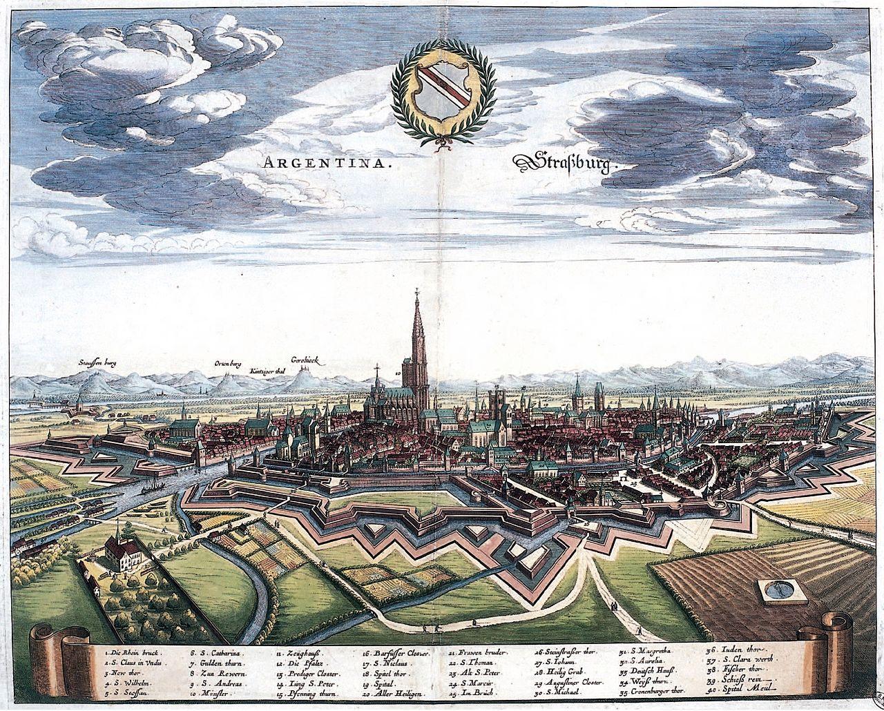 Strasbourg en 1644