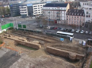 Vestiges mur d'enceinte Strasbourg boulevard Wilson