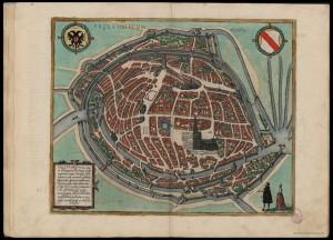 plan ville de Strasbourg en 1572