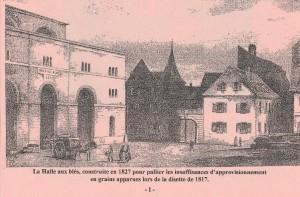 La halle aux blés en 1827 Aqht strasbourg