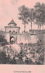Porte de Pierre en 1858