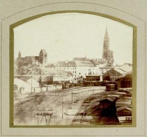 La gare de Strasbourg en 1869 AQHT