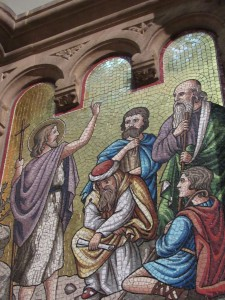 mosaïque de la chair St Pierre le Jeune Strasbourg Cp Karim TATAI