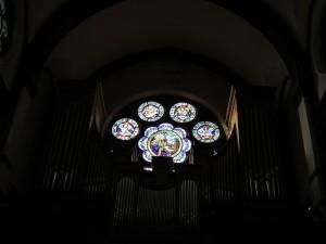 orgue rosace Eglise St pierre le Jeune strasbourg CP Karim TATAI