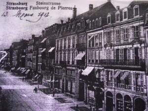 Le faubourg de Pierre en 1912 AQHT Strasbourg