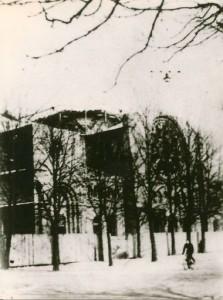 Synagogue de Strasbourg après l'incendie de 1940