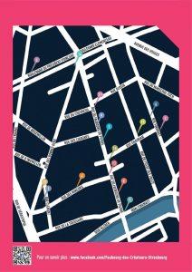 plan parcours artistique du Faubourg Créateurs 2016